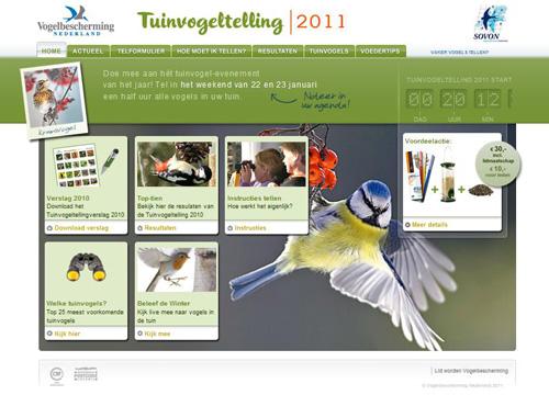 Tuinvogeltelling 2011 / Gardenbirds counting 2011