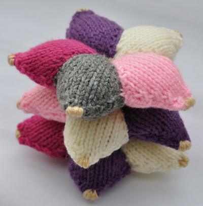 Gebreide sterren – Knitted stars