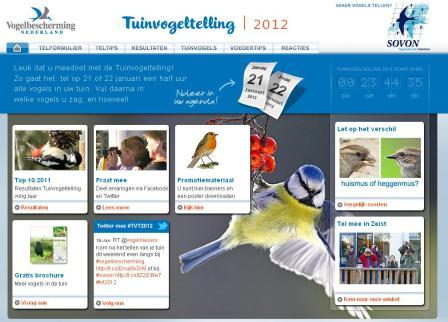 tuinvogeltelling 2012