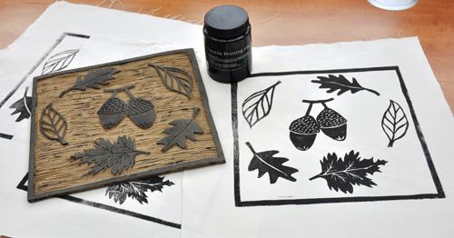 Zelf stof bedrukken – Fabric printing