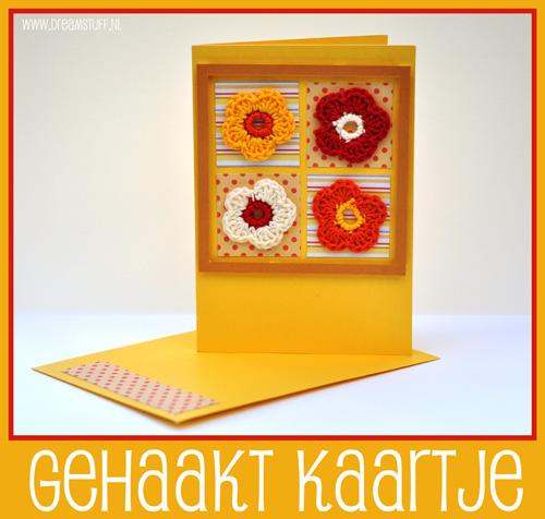 Gehaakt kaartje – Crocheted card