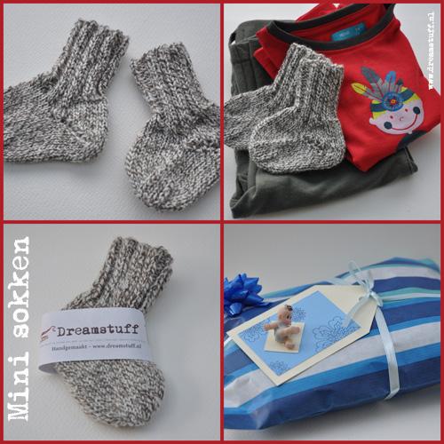 gebreide babysokken – knitted babysocks