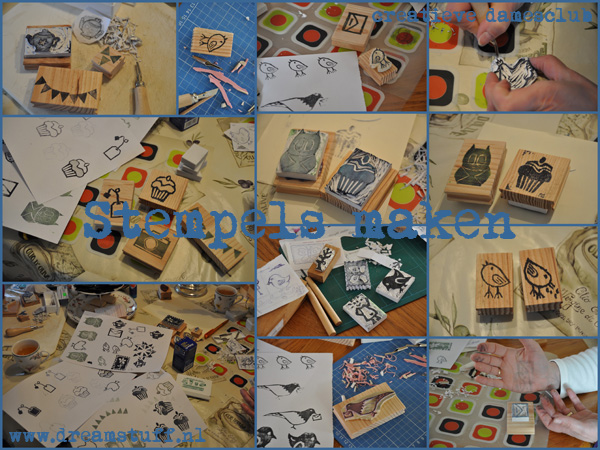 Stempels maken – Carving stamps