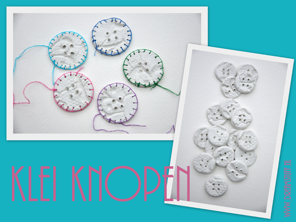Klei knopen – Clay buttons