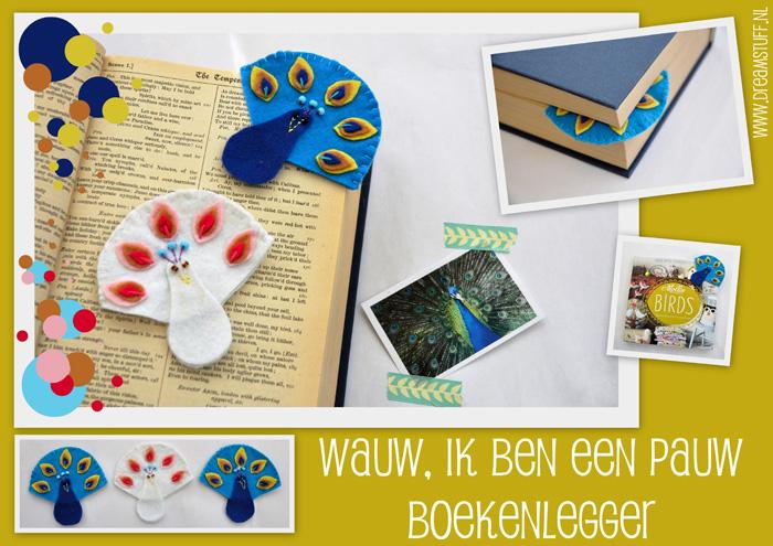 Wauw, ik ben een Pauw Boekenlegger – Proud to be a Peacock Bookmark