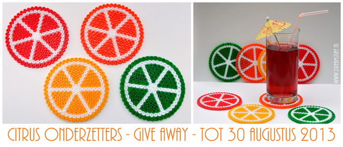 Give away: Citrus onderzetters / Citrus coasters