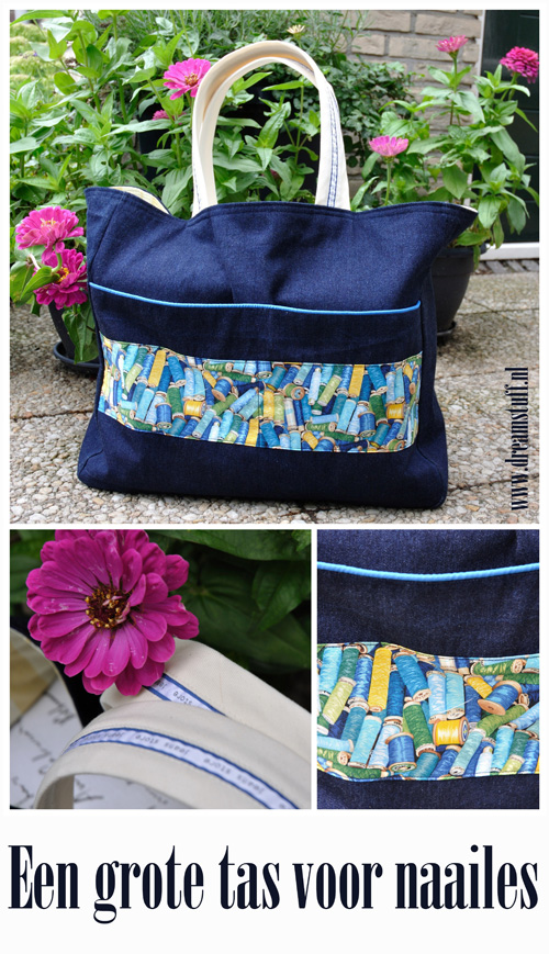 Grote tas voor naailes – Big bag for sewing class