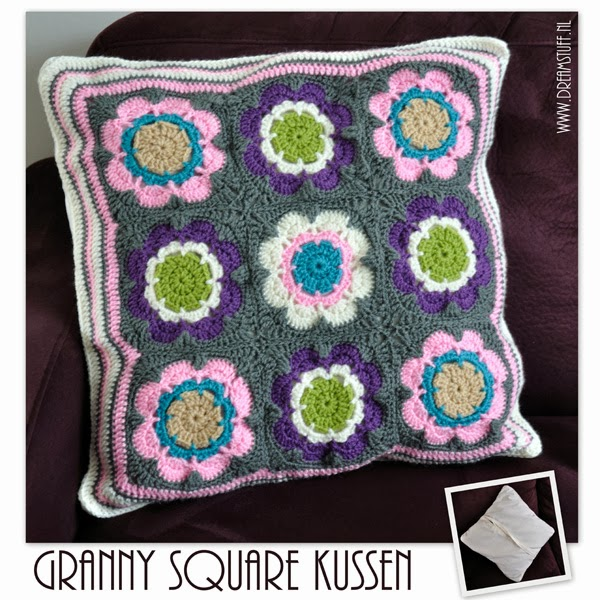 Granny square kussen – pillow