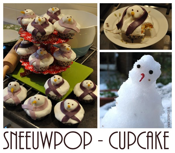 Sneeuwpop – Snowman Cupcakes