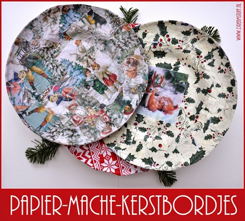 DIY Kerstbordjes – Christmas plates