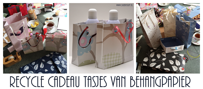 Behangpapier Cadeautasjes – Wallpaper giftbags