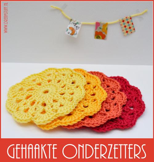 Gehaakte onderzetters – Crocheted coasters