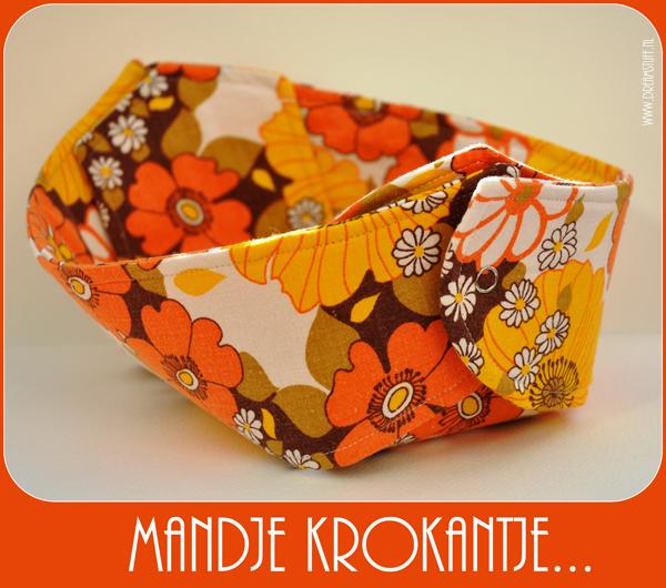 Mandje Krokantje … blijft leuk – Fabric Breadbasket