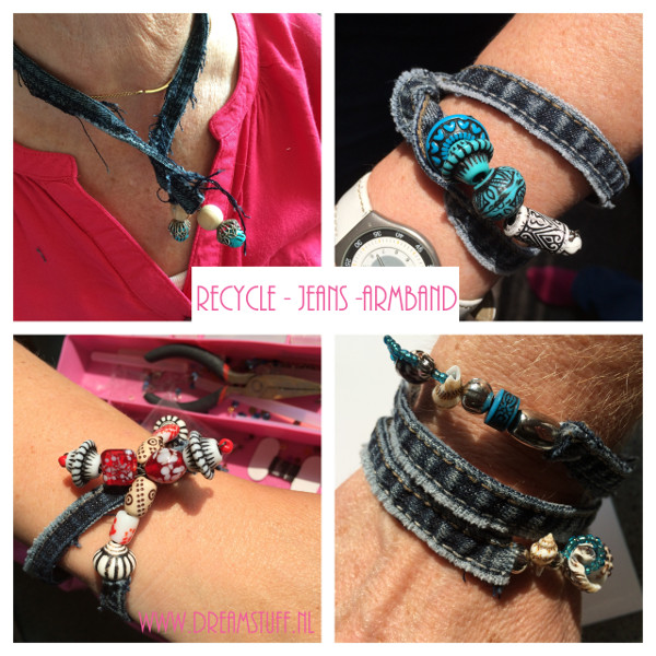 Recycle jeans armband – Bracelet – Crafternoon
