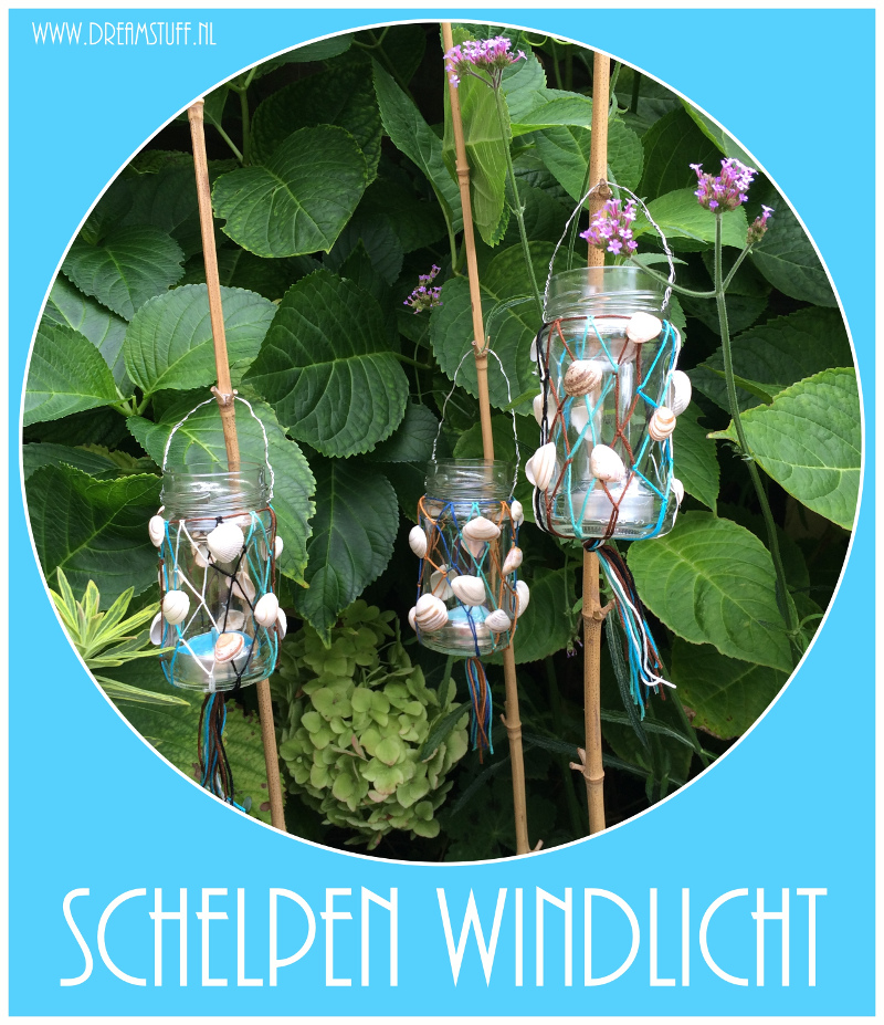 Schelpen windlicht – Shells candle light
