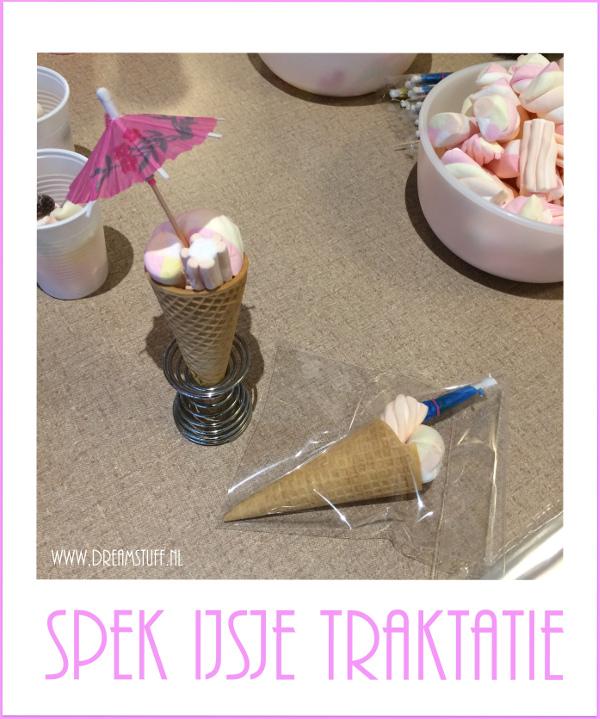 Spekkie IJsje traktatie – Marshmallow Icecream treat