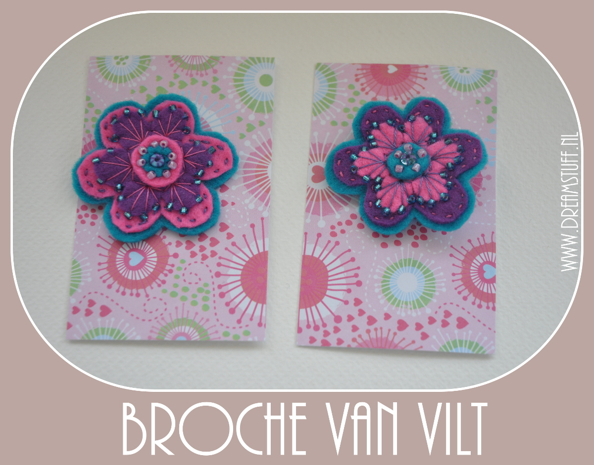 Vilten Broche – Felted Brooche
