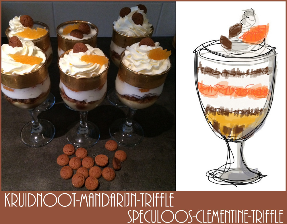 Kruidnootjes-mandarijn-triffle / Speculoos-clementine-triffle