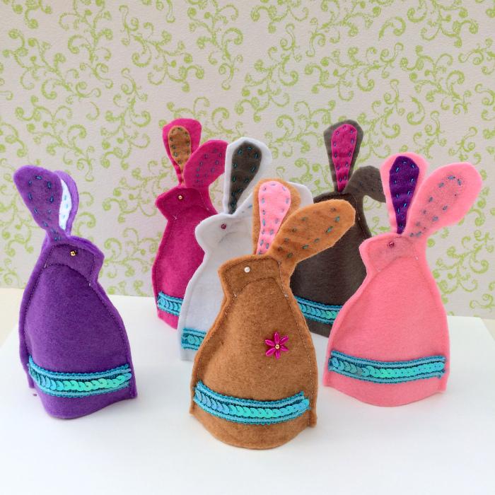 Haas ei-warmer – Bunny egg-cosy